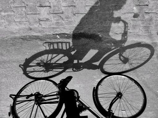 fiets op de zaak
